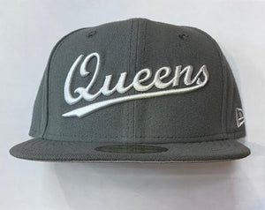 "New Era Queens NY Fitted ""Grey White"""