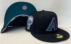 "New Era Arizona Diamondbacks Fitted Teal Bottom ""Black Teal Purple"" (1998 Inaugural Season Embroidery)"