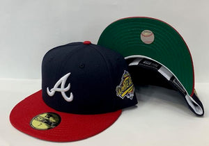 "New Era Atlanta Braves Fitted Green Bottom ""Navy Red"" (1996 World Series Embroidery)"
