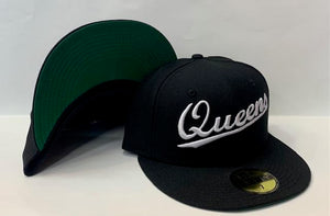 "New Era Queens NY Fitted Green Bottom ""Black White"""