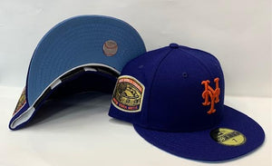 "New Era New York Mets Fitted Sky Blue Bottom ""Royal Orange"" (1969 World Series Embroidery)"