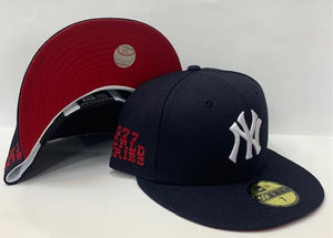 "New Era New York Yankee Fitted Red Bottom ""Navy Blue"" (1977 World Series Embroidery)"
