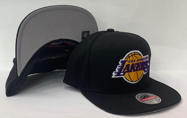 "Mitchell & Ness Los Angeles Lakers Downtime Redline Snapback Grey Bottom ""Black Yellow Purple"""