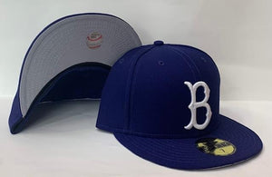 "New Era Brooklyn Dodgers Fitted Grey Bottom ""Royal White"""