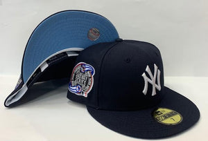 "New Era New York Yankee Fitted Sky Blue Bottom ""Navy Blue White"" (2000 Subway Series Embroidery)"