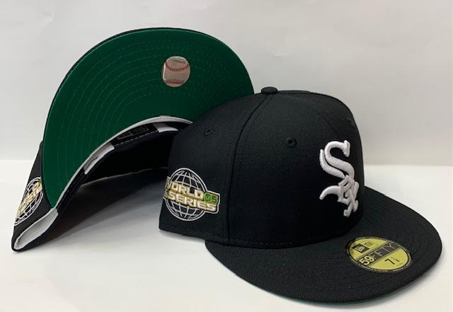 "New Era Chicago White Sox Fitted Green Bottom ""Black White"" (2005 World Series Embroidery)"