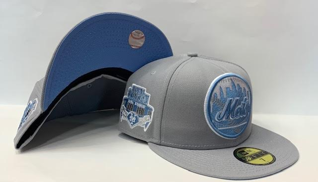 "New Era New York Mets Fitted Sky Blue Bottom ""Grey Sky Blue"" (Final Season 1964-2008 Embroidery)"