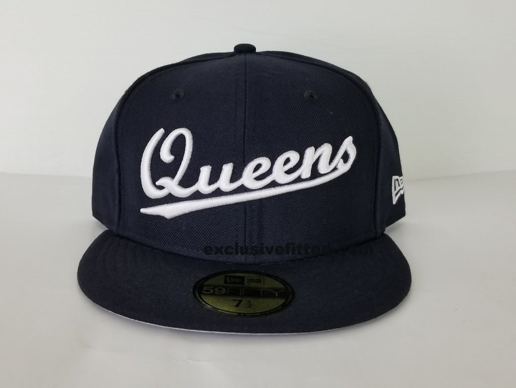 "Queens NY Fitted ""Navy White"" $35.00"