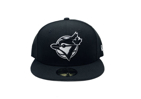 "Toronto Blue Jays Fitted ""Black White"" $35.00 - FCSSNEAKERS.COM"