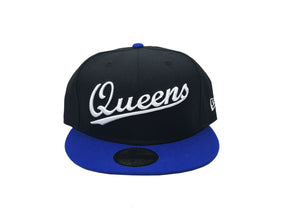 "Queens NY Fitted ""Black Bright Royal"" $35.00 - FCSSNEAKERS.COM"