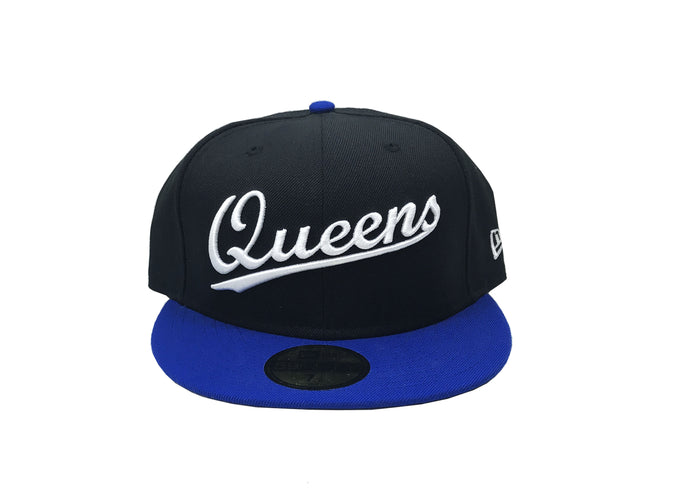 "Queens NY Fitted ""Black Bright Royal"""