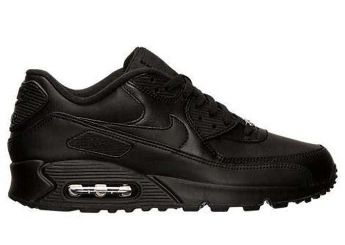 "Nike Air Max 90 Leather ""Black Black"""