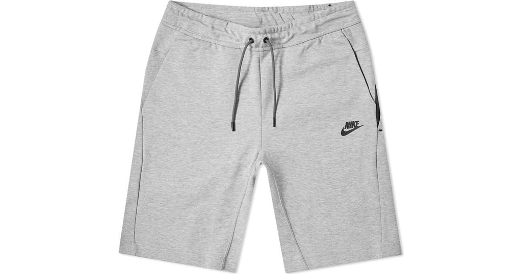 "Nike Tech Fleece Shorts ""Grey Black"" $80.00"
