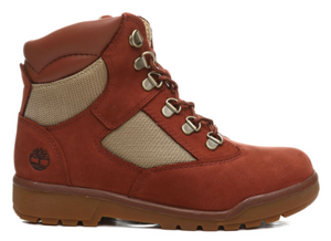 "Timberland 6In F/L Field Boot (GS) ""Rust Nubuck"""