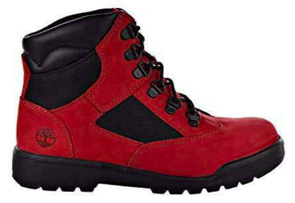 "Timberland 6In F/L Field Boot (GS) ""Red Black"""