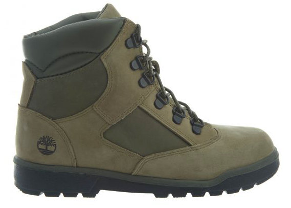 "Timberland 6In LTHR Field Boot (GS) ""Green Suede"""