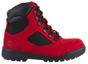 "Timberland 6In F/L Field Boot (PS) ""Red Black"""