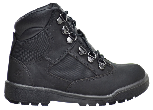 "Timberland 6In F/L Field Boot (PS) ""Black Black"""