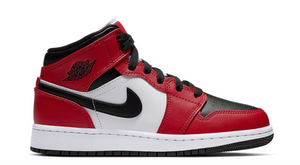 "Air Jordan 1 Mid (GS) ""Chicago Toe"""