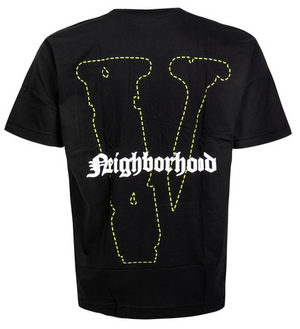 "Vlone Neighborhood Skull Tee ""Black Green"" $180.00"