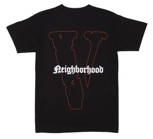 "Vlone Neighborhood Skull Tee ""Black Red"" $180.00"