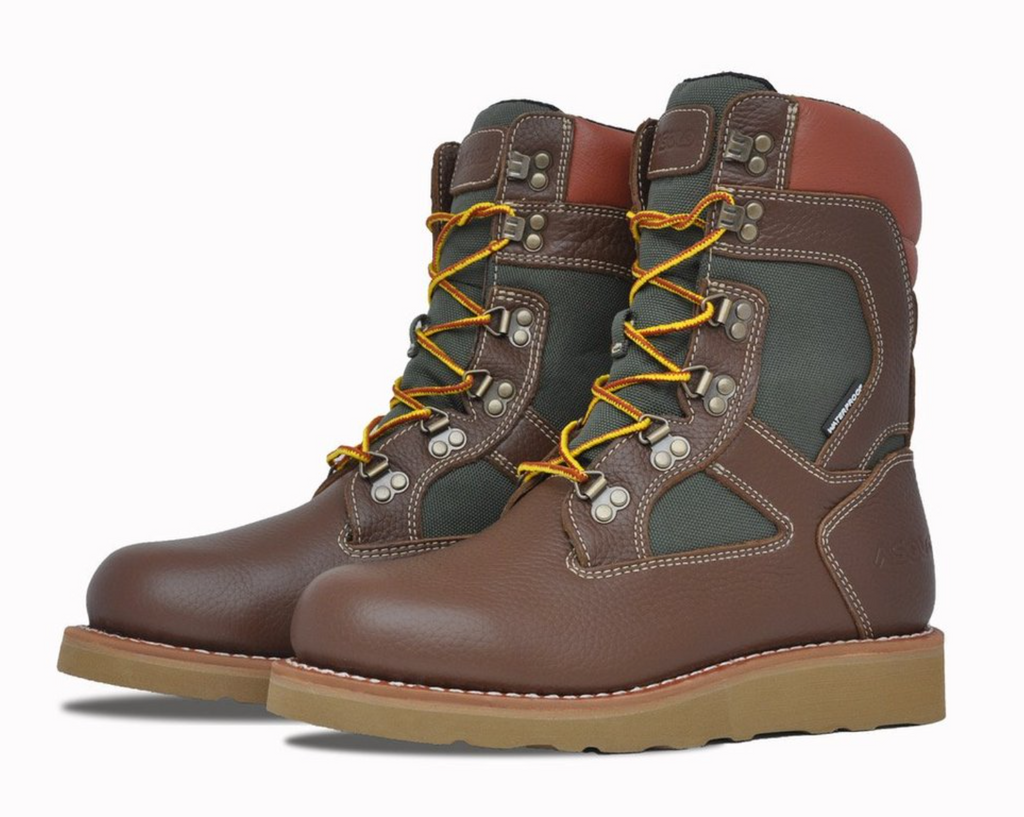 "Asolo Welt High 9"" Boots ""Brown Green"""