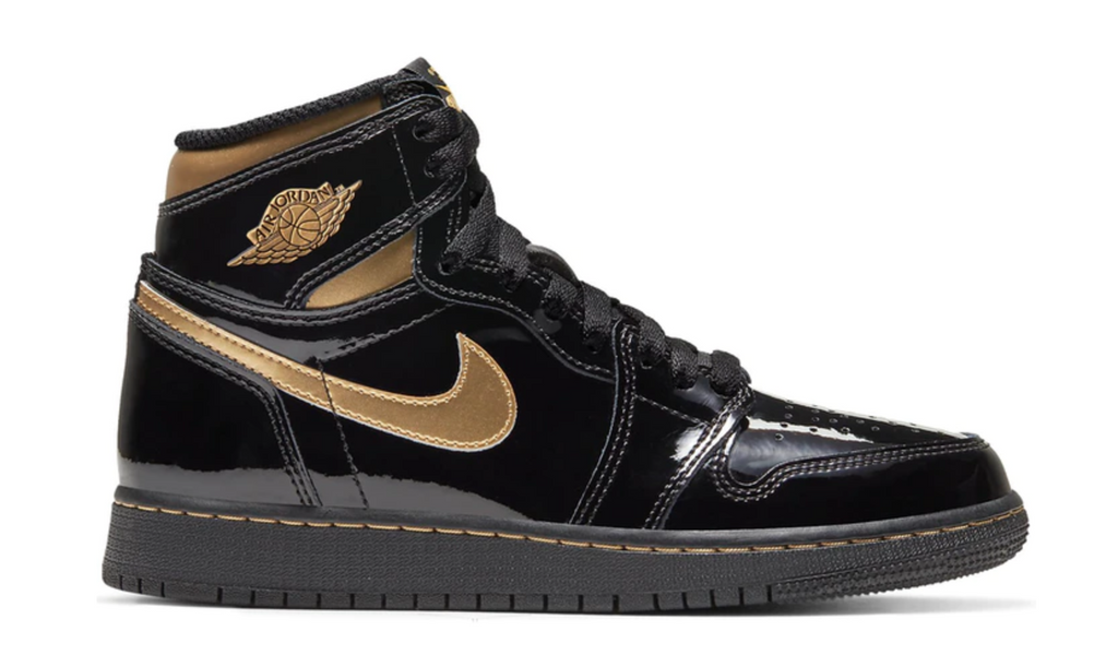 "Air Jordan 1 Retro High OG (GS) ""Black Metallic Gold"""