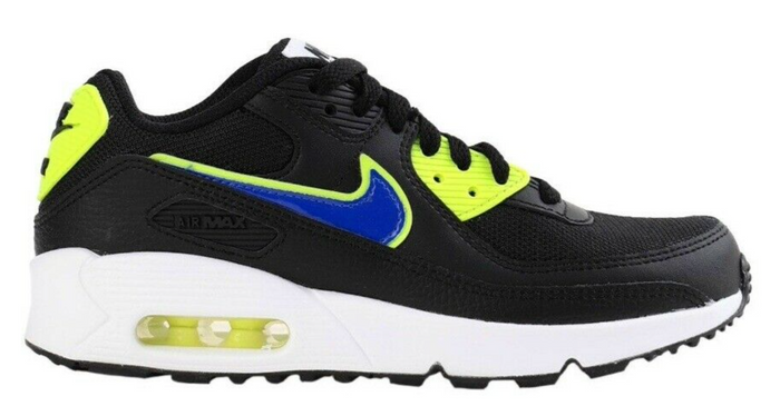 "Nike Air Max 90 (GS) ""Black Racer Blue Volt"""