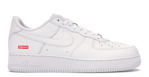 "Nike Air Force 1 Low Supreme ""White White"""