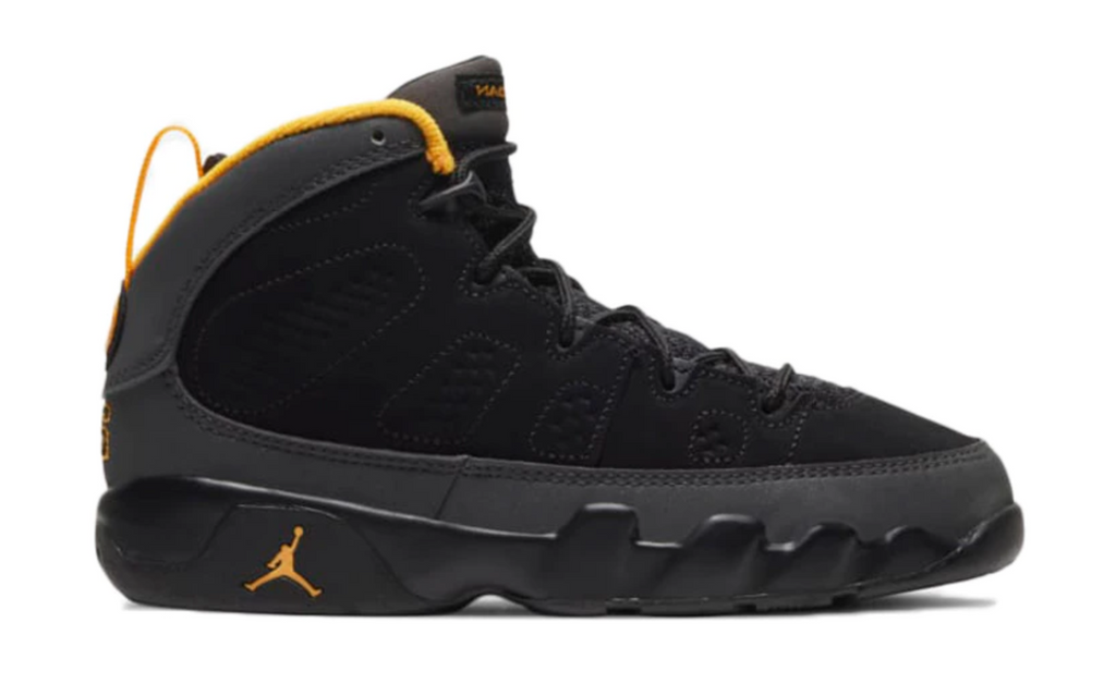 "Air Jordan 9 Retro (PS) ""Dark Charcoal University Gold"""