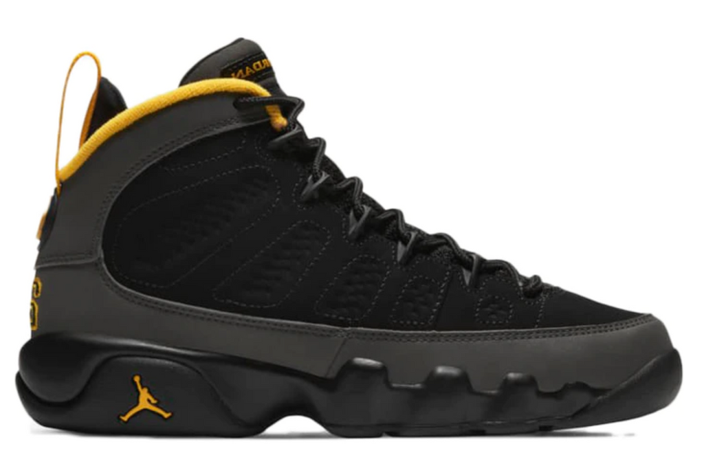 "Air Jordan 9 Retro (GS) ""Dark Charcoal University Gold"""