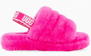 "Uggs Fluff Yeah Slide ""Rock Rose"""