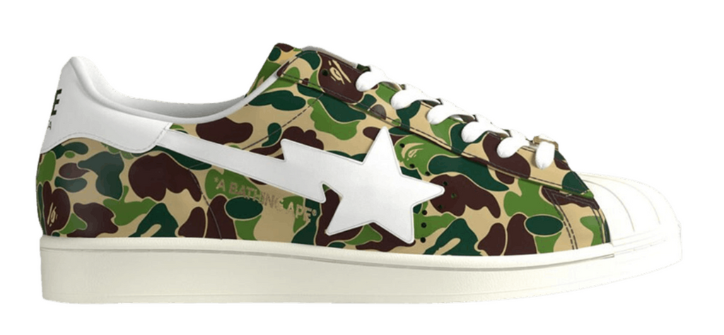"Adidas Superstar 80s Bape ""ABC Camo"""