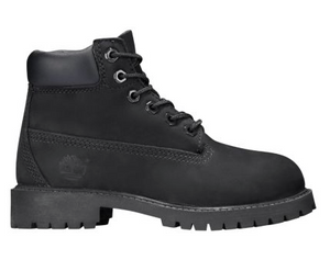 "Timberland 6 In PREM Boot (PS) ""Black Construction"" - FCSSNEAKERS.COM"
