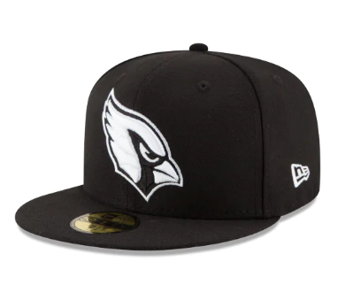 "New Era Arizona Cardinals Fitted ""Black White"""