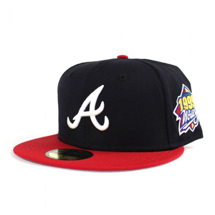 "New Era Atlanta Braves Fitted ""Navy Red"" (1999 World Series Embroidery)"