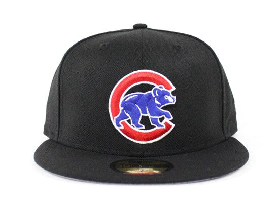 "Chicago Cubs Fitted ""Black Royal Red"""