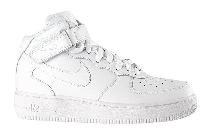 "Nike Air Force 1 Mid (GS) ""White White"""