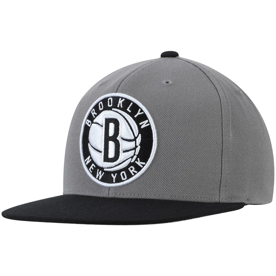 "Mitchell & Ness Brooklyn Nets Snapback ""Dark Grey Black White"" $32.00"