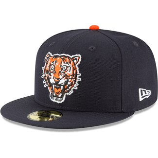 "New Era Detroit Tigers Fitted "" Navy Orange"""