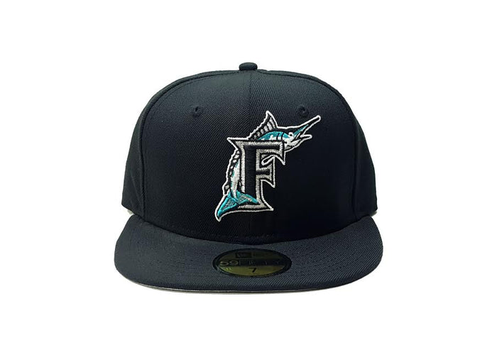 "New Era Florida Marlins Fitted Grey Bottom ""Black"""
