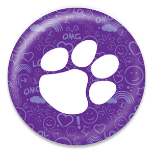 Paw Print Purple Graphic - ChattySnaps