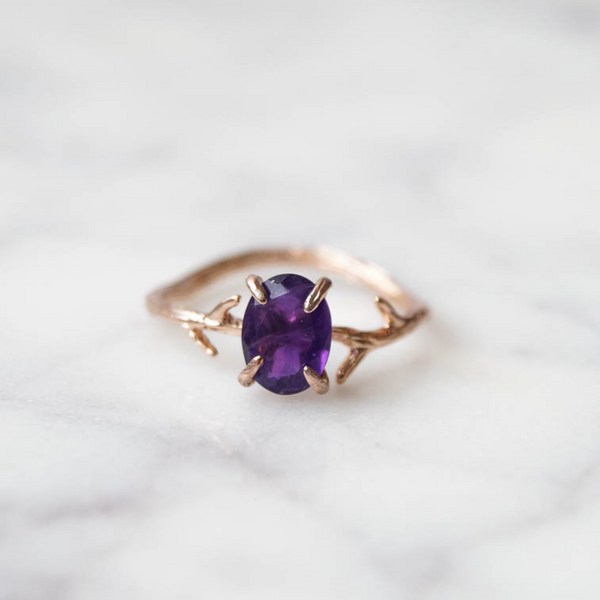 Amethyst Ring, Ring, - Wander + Lust Jewelry