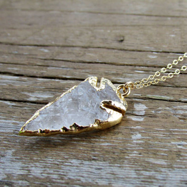 Crystal Quartz Arrowhead Necklace - Wander + Lust Jewelry  - 3