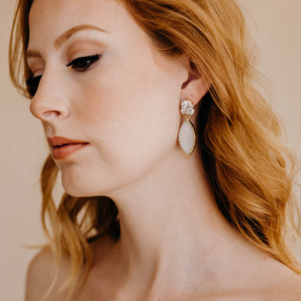 MEGHAN Marquise Bridal Earrings