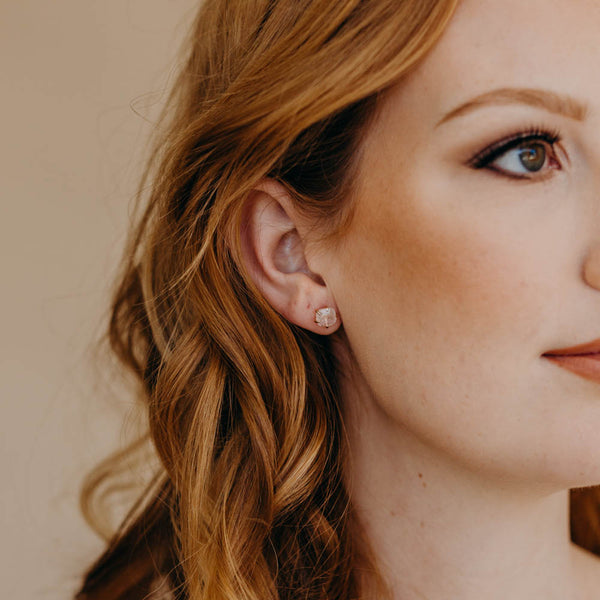 LUCILLE Studs, Earrings, - Wander + Lust Jewelry
