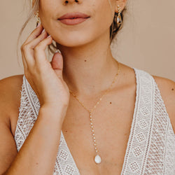 WINNIE Pearl Necklace, Necklace, - Wander + Lust Jewelry