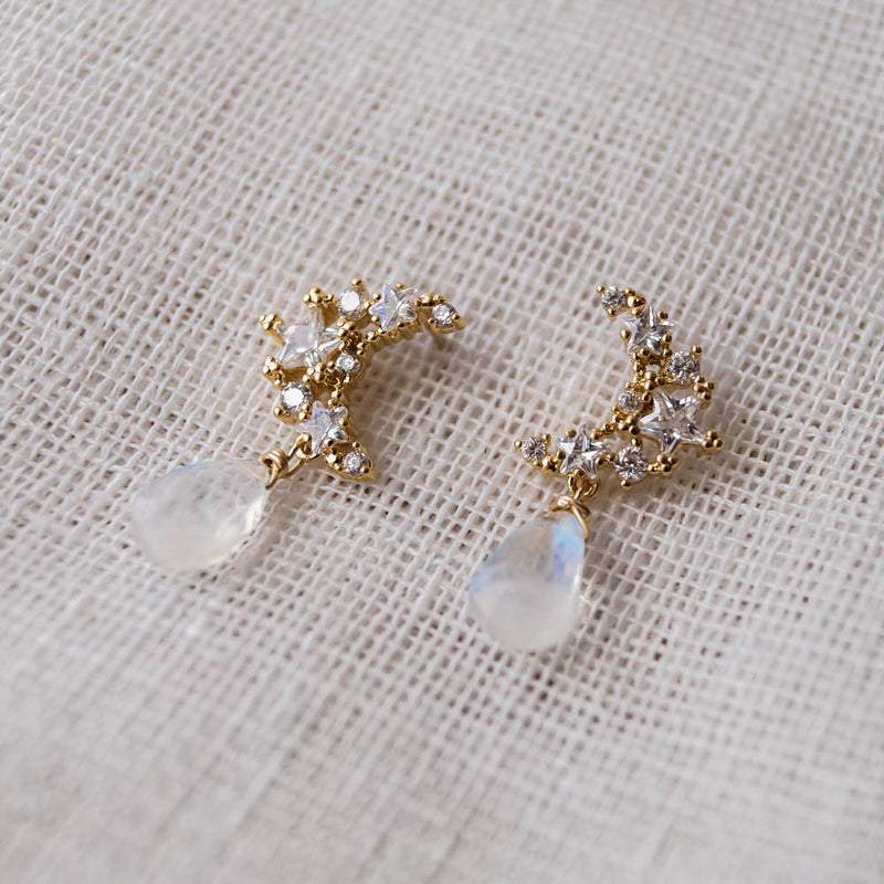 Selene Moon Earrings, Earrings, - Wander + Lust Jewelry