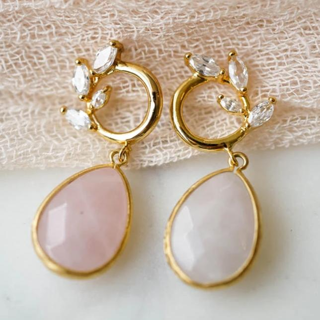 GWYNN Wreath Earrings, Earrings, - Wander + Lust Jewelry