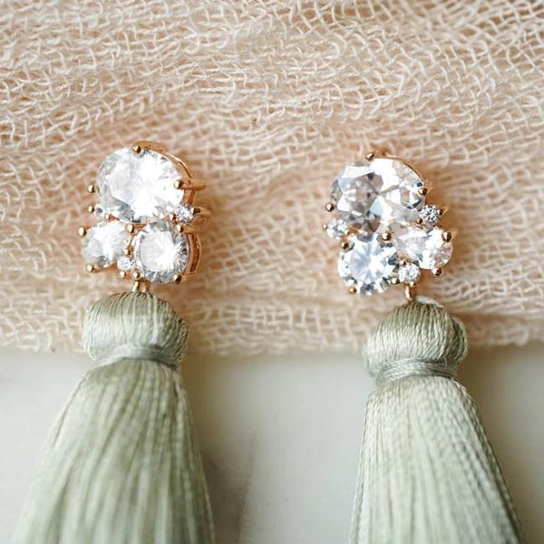 CLAIRE Tassel Earrings, Earrings, - Wander + Lust Jewelry